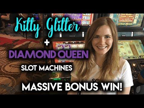 MASSIVE WIN on Diamond Queen Slot Machine!!! BONUS!!!