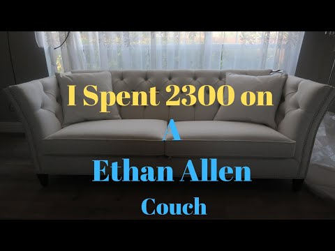 I Spent 2300 On my Ethan Allen Couch!!!