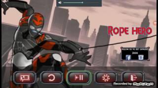Rope hero gameplay
