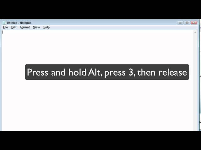 How to Enter ASCII Key Codes in Windows