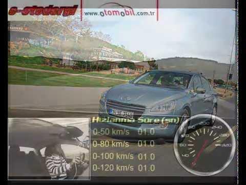 2011 Peugeot 508 1.6 VTI Auto6R (otomatik) Test (0-100 Km/s, 100-0 Km/s)