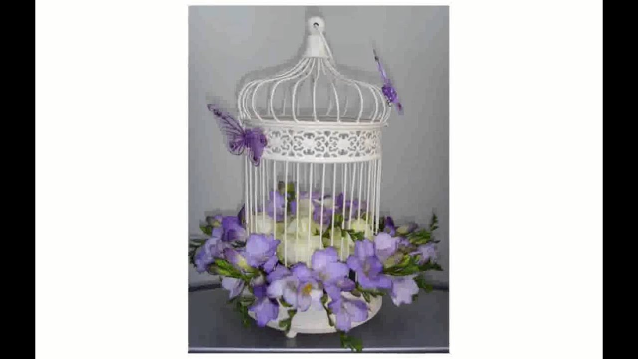 Wedding birdcage decorations youtube for How to decorate
