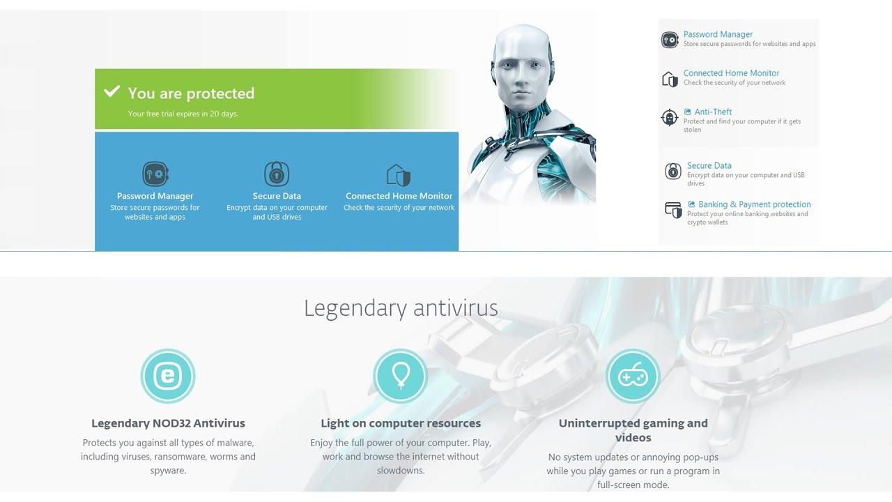 NOD32 Antivirus FULL licence Key - YouTube