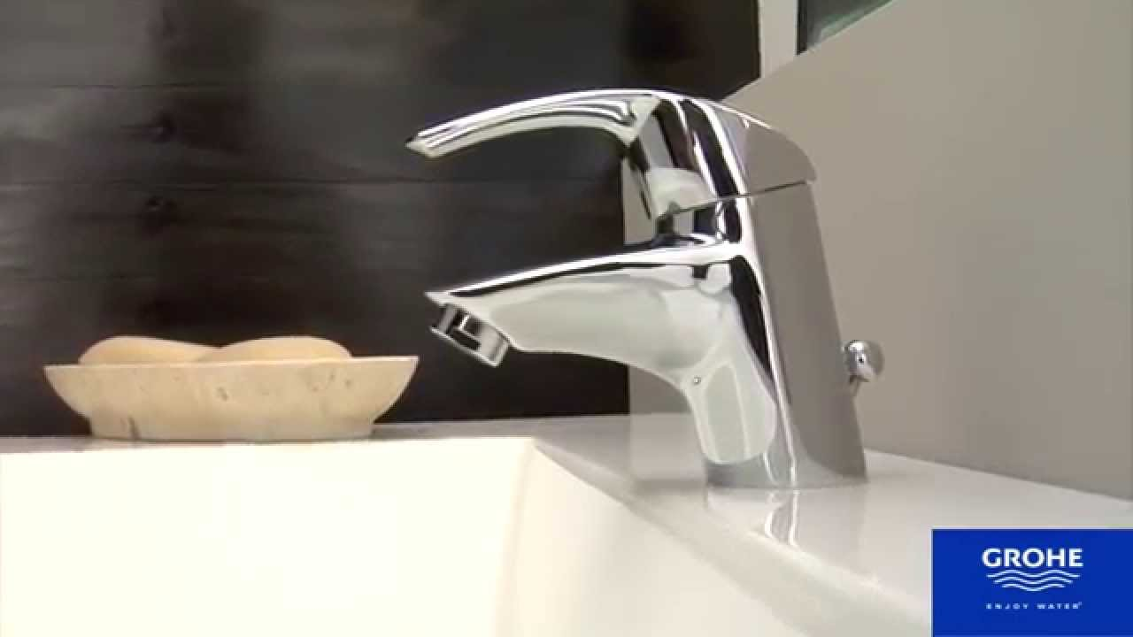 grohe eurosmart basin mixer youtube. Black Bedroom Furniture Sets. Home Design Ideas