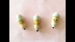 Tutorial Tuesday: No. 2 pencil charm | Polymer clay tutorial
