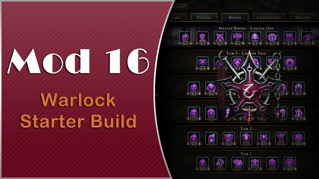 Neverwinter - Mod 16 Warlock Starter Build