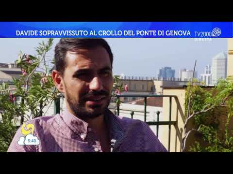 Davide sopravvissuto al crollo del ponte di Genova