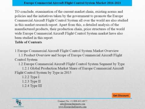 Europe Commercial Aircraft Flight Control System Market to Witness Steady Growth In The Near Future.