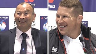 Eddie Jones & Dylan Hartley Full Pre-Match Press Conference - Italy vs England - Six Nations