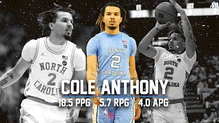 Cole Anthony UNC 2019-20 Season Highlight Montage | 18.5 PPG, 5.7 RPG, 4 APG, Project Top 10 Pick!