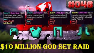 Minecraft FACTIONS Let's Play #48 - $10 MILLION DOLLAR OP GOD SET RAID!! (650 Likes?)