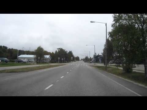 Driving through the village of Hetta, Enontekiö commune, Northern Finland.MOV