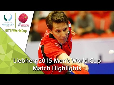 2015 Men's World Cup Highlights: GARDOS Robert vs ACHANTA Sharath Kamal (Qual. Groups)