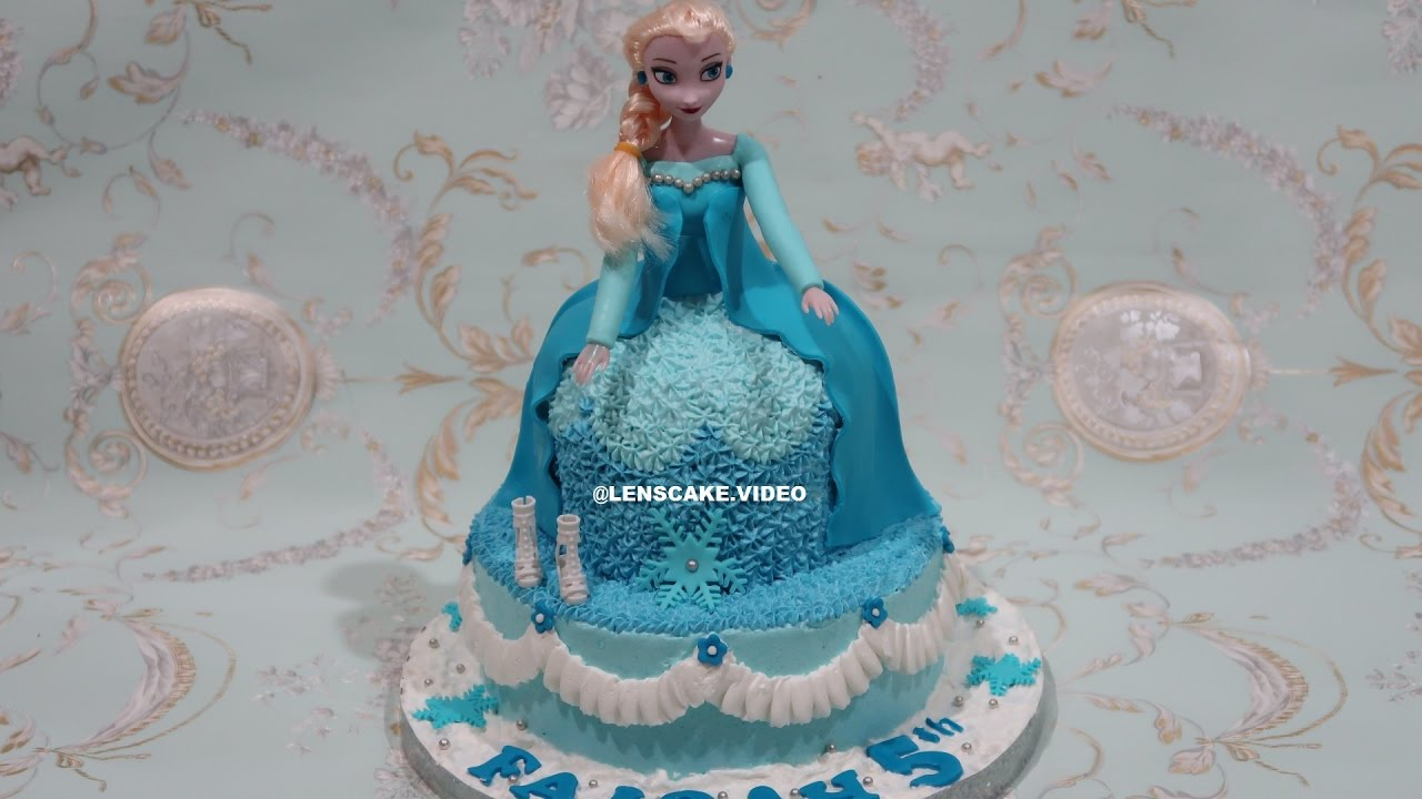 How To Make Birthday Cake Frozen Barbie Doll