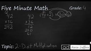 4th Grade Math 2-Digit Multiplication