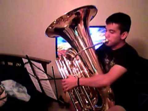 The Nervous Turkey Rag a Tuba Solo Original played by Jaime Reyna
