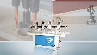 Four Head Hinge Boring Machine HS-4H - Quoc Duy woodworking machine