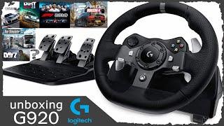 Logitech G920 unboxing - german / deutsch