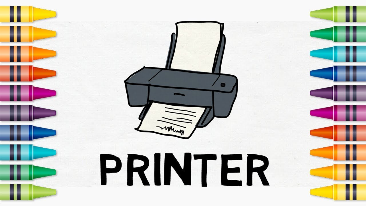 How to draw a printer | Easy drawing for kids - YouTube