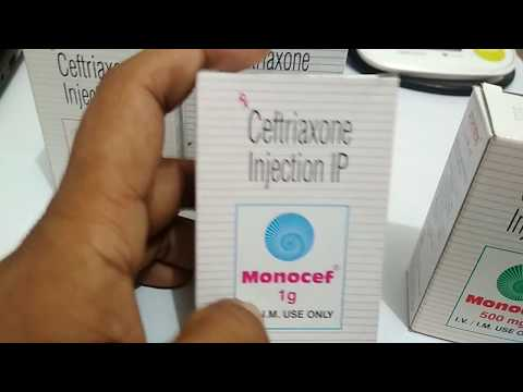 #Monocef 1 Gm Injection. Use #(Ceftriaxone) Full Review( किसी तरह के Infection को ठीक करे) In Hindi
