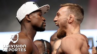 Download McGregor vivió su primera ceremonia de pesaje como boxeador para enfrentar a Mayweather Mp3 and Videos