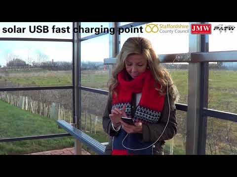 Solar powered bus shelter - Redhill Business Park