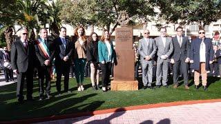 Inauguración de la Plaza de Sociedad Musical Ciudad de Torrevieja los Salerosos y Avda  Faleria