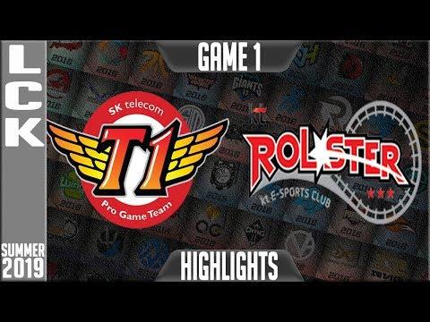 SKT vs KT Highlights Game 1 | LCK Summer 2019 Week 5 Day 3 | SK Telecom T1 vs KT Rolster