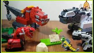 Dinazor Makineler Lego Oyuncak 3-DinoTrux Mega Bloks-We Changed the Heads of the Ty-Rux Vs D-Structs