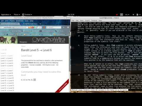overthewire.org [SPOLIER] hacking wargame BANDIT Level 5-6