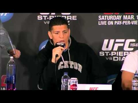 Press conference GSP vs Diaz