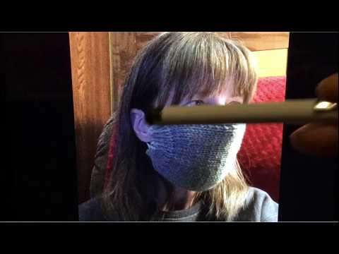 Learn How To Knit A Surgical Dust Mask Video. Don't Forget To Hit Like And Subscribe