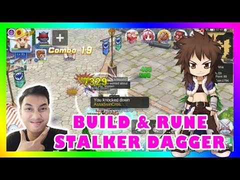 BUILD & RUNE STALKER DAGGER NEW !! | RAGNAROK MOBILE ETERNAL LOVE SEA