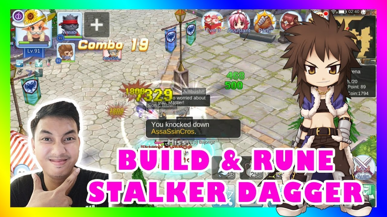 build  rune stalker dagger terbaru   ragnarok mobile