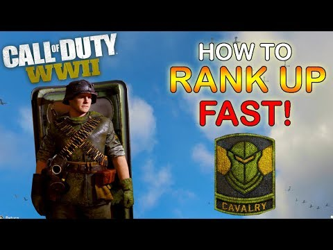 HOW TO level up the CAVALRY division FAST | call of duty ww2