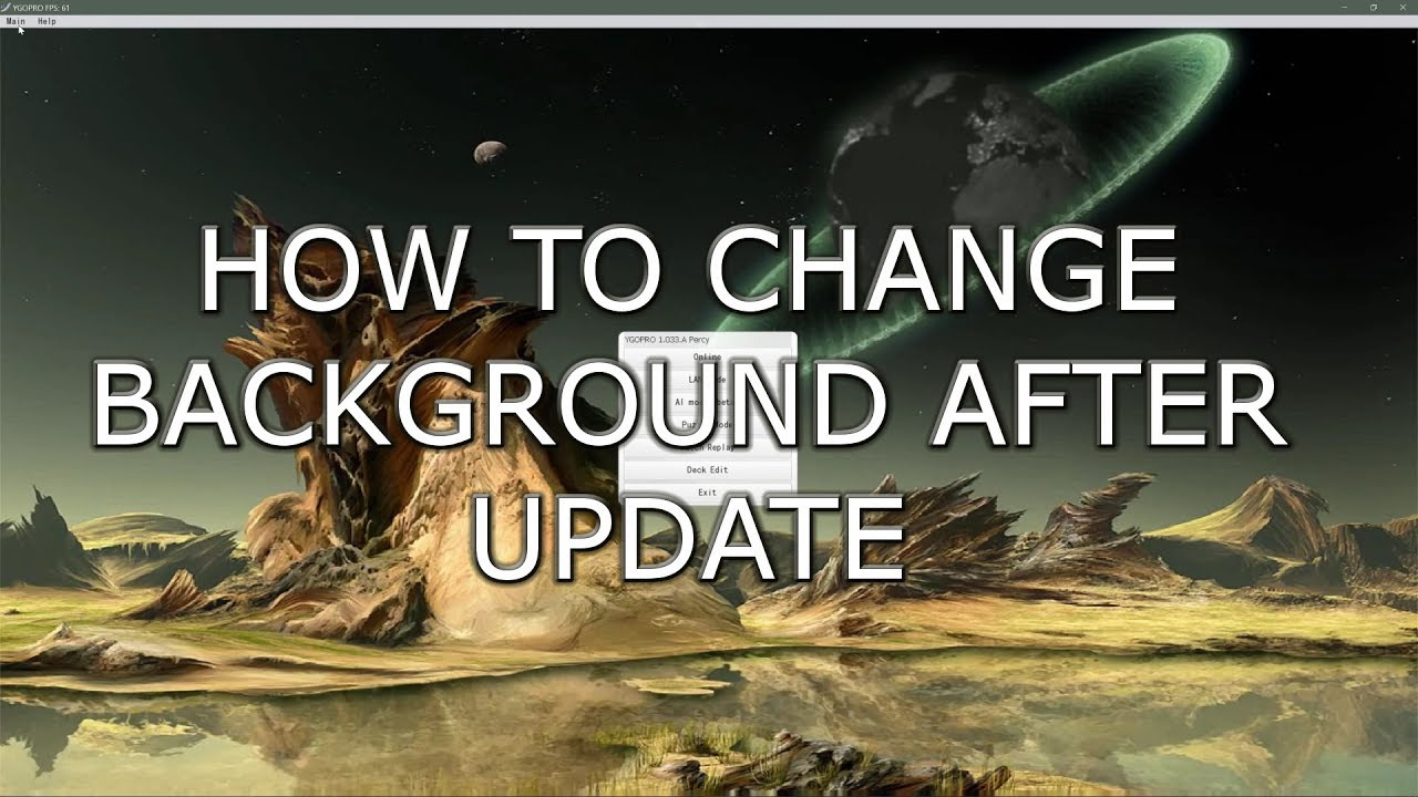 YGOPRO - How to Change the Animated background after Update! - YouTube