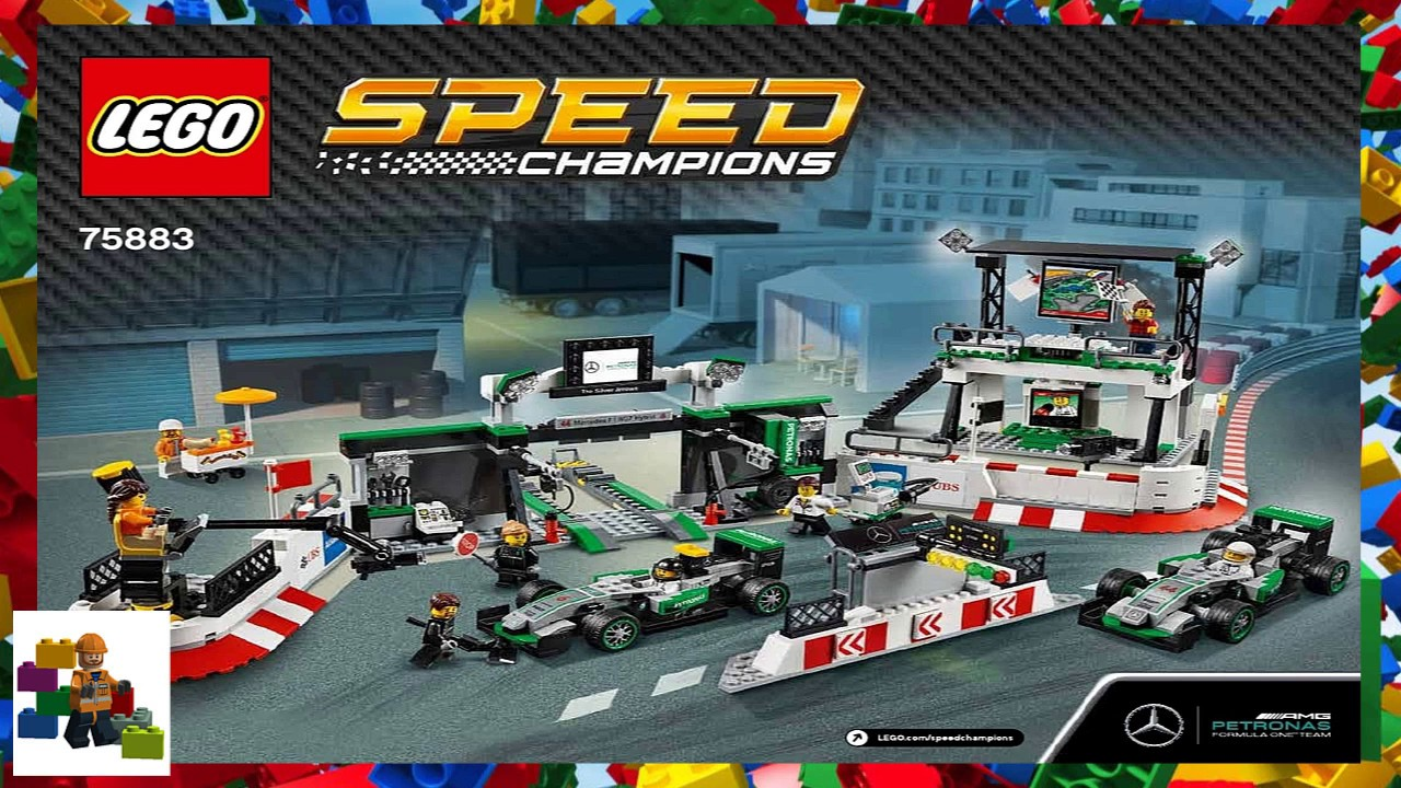 Lego Speed Champions 75883 Mercedes AMG Petronas Formula One Team NEW 75883