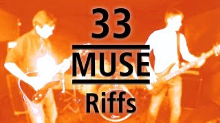 33 MUSE Riff Guitar and Bass Medley