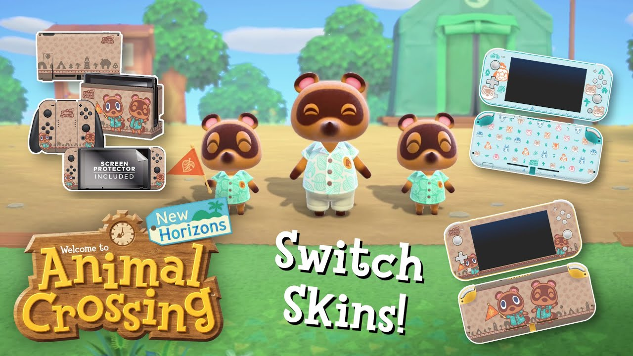 New Switch Skins For Animal Crossing New Horizons Youtube