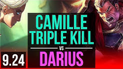 CAMILLE vs DARIUS (TOP) | 3 early solo kills, Triple Kill, 69% winrate | Korea Grandmaster | v9.24