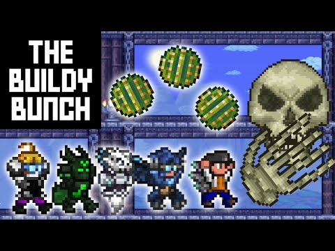 The Buildy Bunch And The Cacti Monster | Terraria
