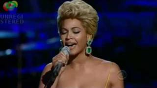 "BEYONCE SINGS ""AT LAST"" TO ETTA JAMES GRAMMY AWARDS CRYSTAL HD"