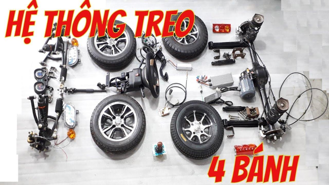 Phụ tùng chế xe 4 bánh treo độc lập xe điện 4 chỗ siêu chất – Lh 0983818955