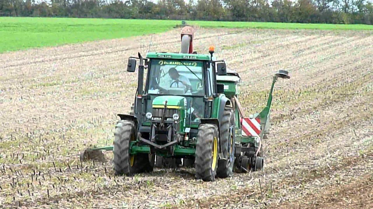 Semis en directe du bl avec un john deere 6810 youtube - Desherbant naturel efficace ...