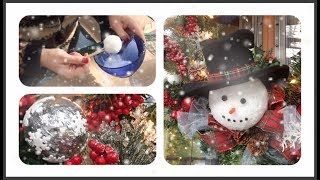 ~DIY~2 Simple Snowball Varieties For a Snowman Wreath