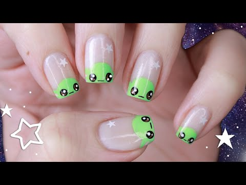 EASY BABY YODA NAILS *FORCE NOT REQUIRED!*