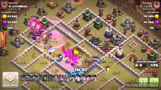 COC TH12 war -  Electro Dragon 3 stars ( Queen walk & Air troops special mix collection 3# )