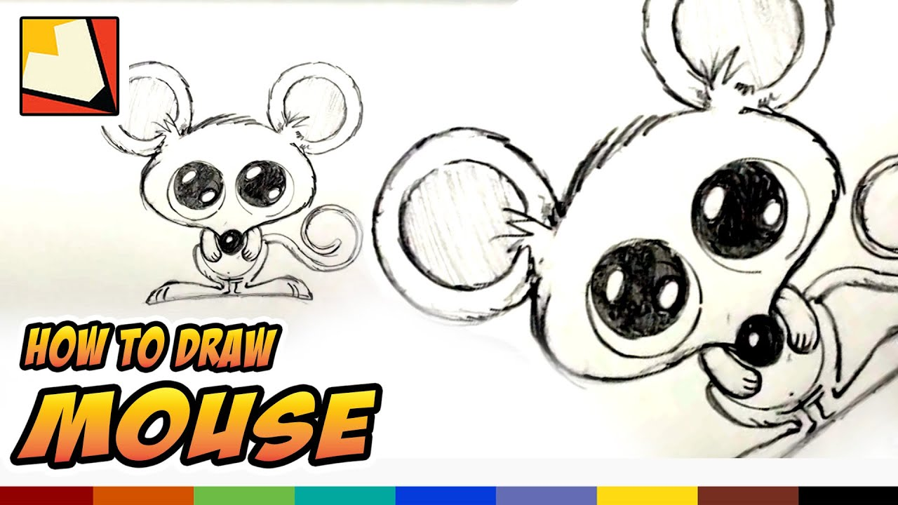 How to draw a mouse easy cartoon mouse drawing lessons for How to draw with a mouse