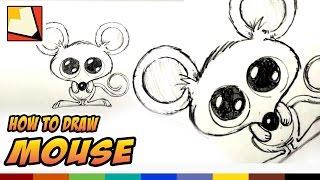 Wie zeichnet man eine Maus - Einfach Cartoon-Maus-und Zeichenunterricht für Kinder | BP