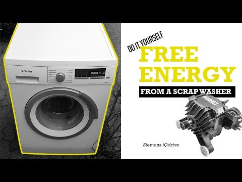 How to get FREE ENERGY from neighbors scrap washing machine  - Siemens iQdrive